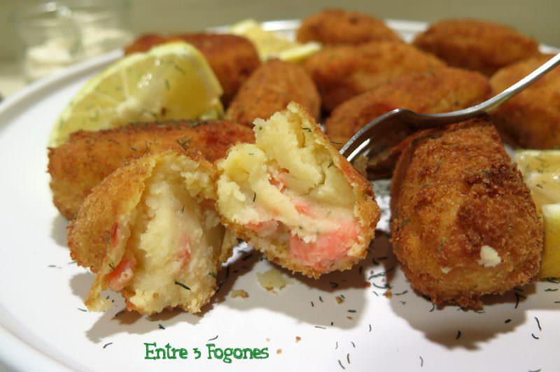 Croquetas de Patata con Trucha Ahumada
