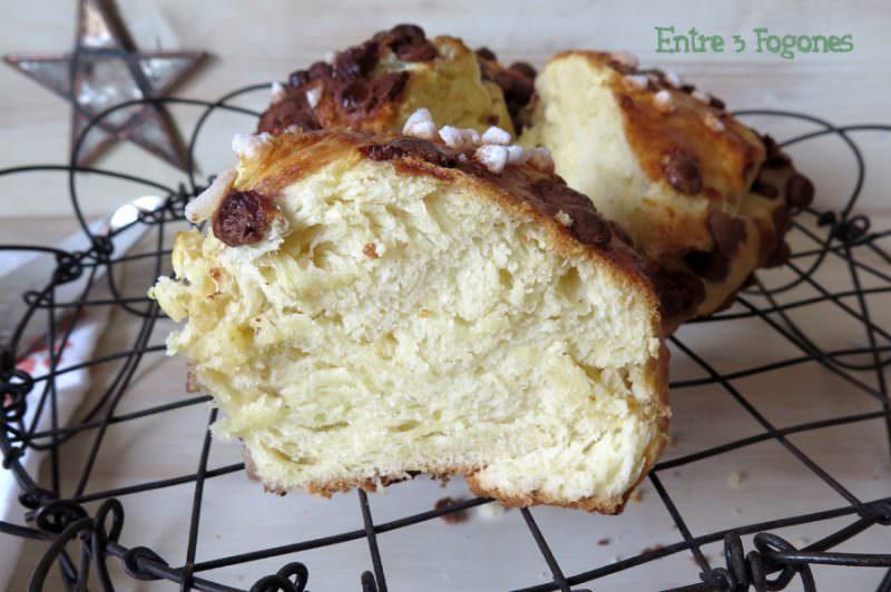 Roscón de Reyes con Masa de Brioche y Pepitas de Chocolate