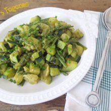 Ensalada de Patatas con Espárragos Verdes y Calabacín