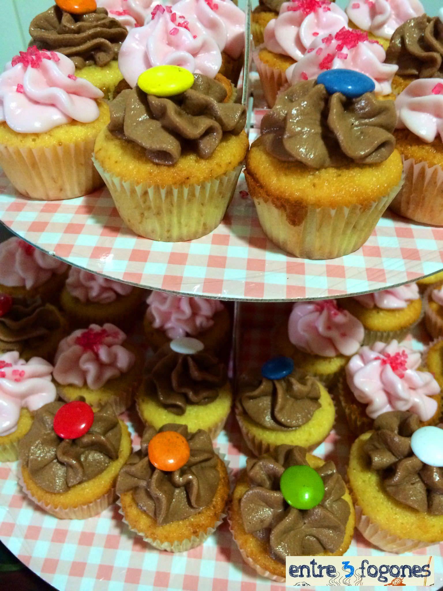 cupcakes fresa y chocolate