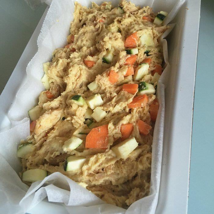 Masa Cake de Pollo con Zanahoria y Calabacín
