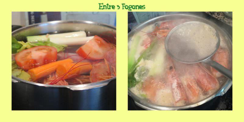 Pasos Caldo Casero de Pescado y Verduras