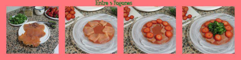 Pasos Carpaccio de Salmón y Fresas