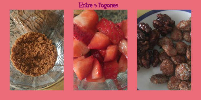 Pasos Trifle de Crema Inglesa con Galletas Spéculoos y Fresas