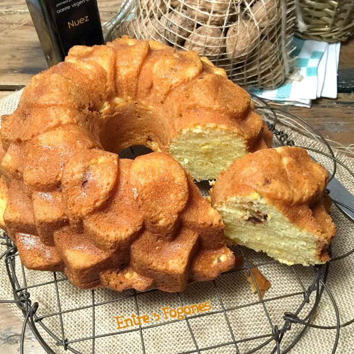 Receta Bundt Cake de Naranja y Nueces Caramelizadas