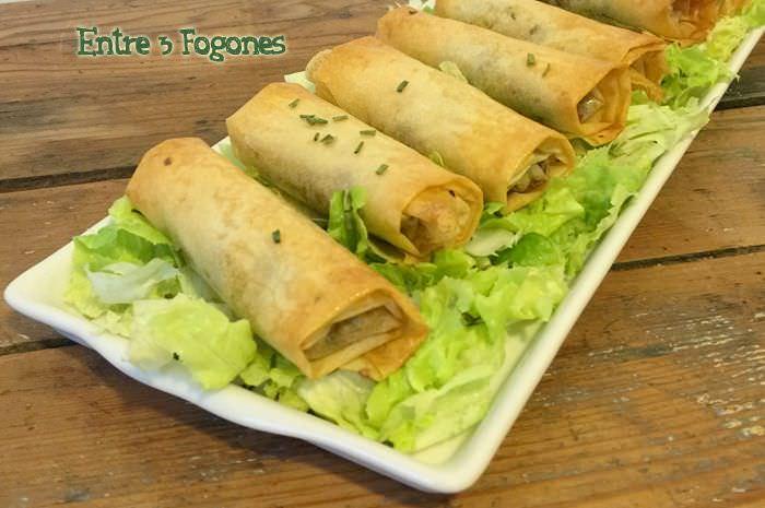 Receta Rollitos Brick con Sardinas, Calabacín y Tomates Secos Marinados