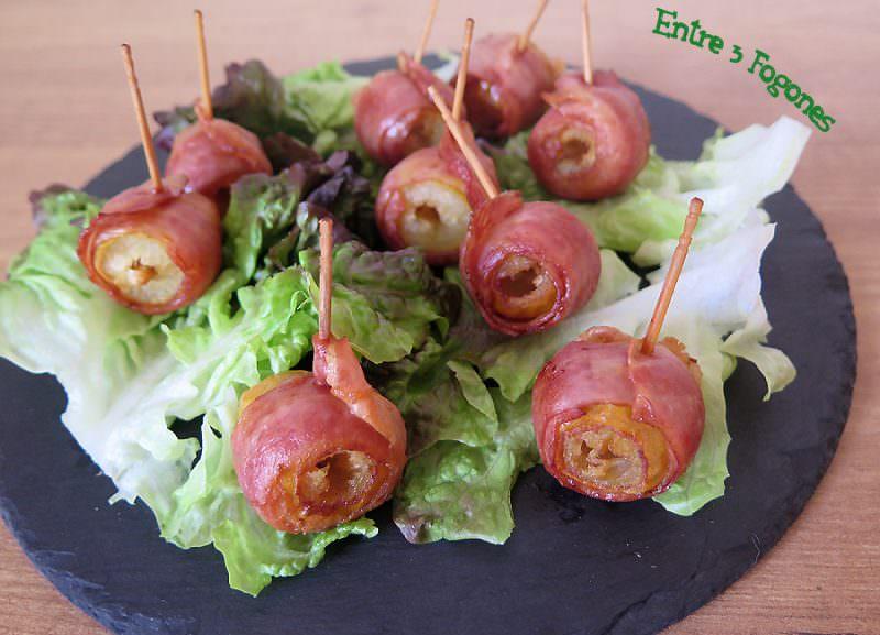 Receta Rollitos de Dátil con Bacon