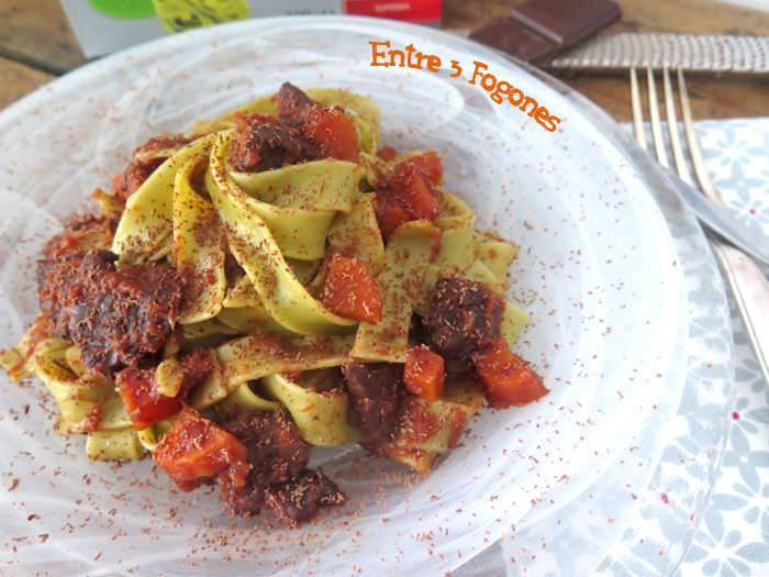 Receta Tagliatelle de espinacas en salsa con ternera gallega