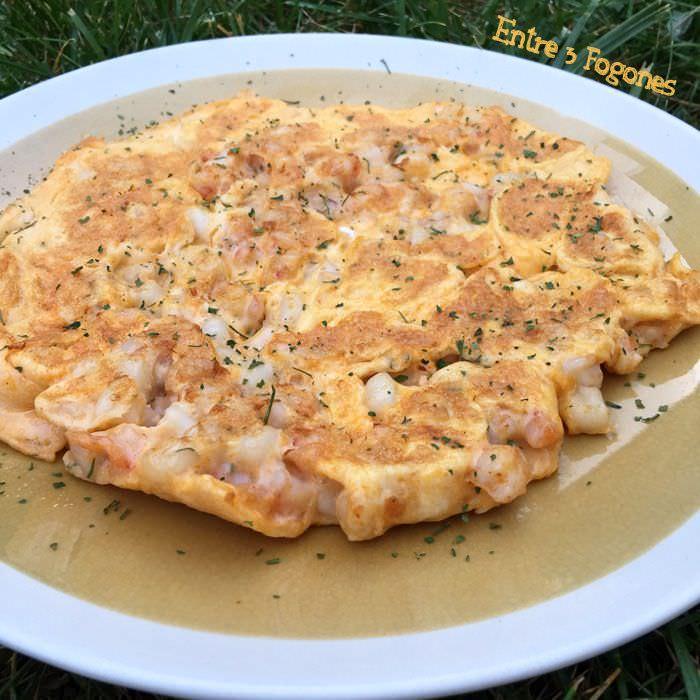 Receta Tortilla de Gambas y Calamar