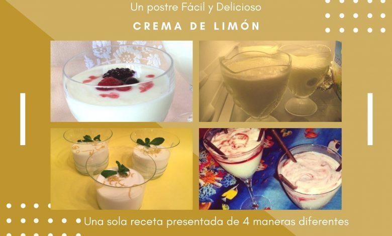 Crema de Limón Postre