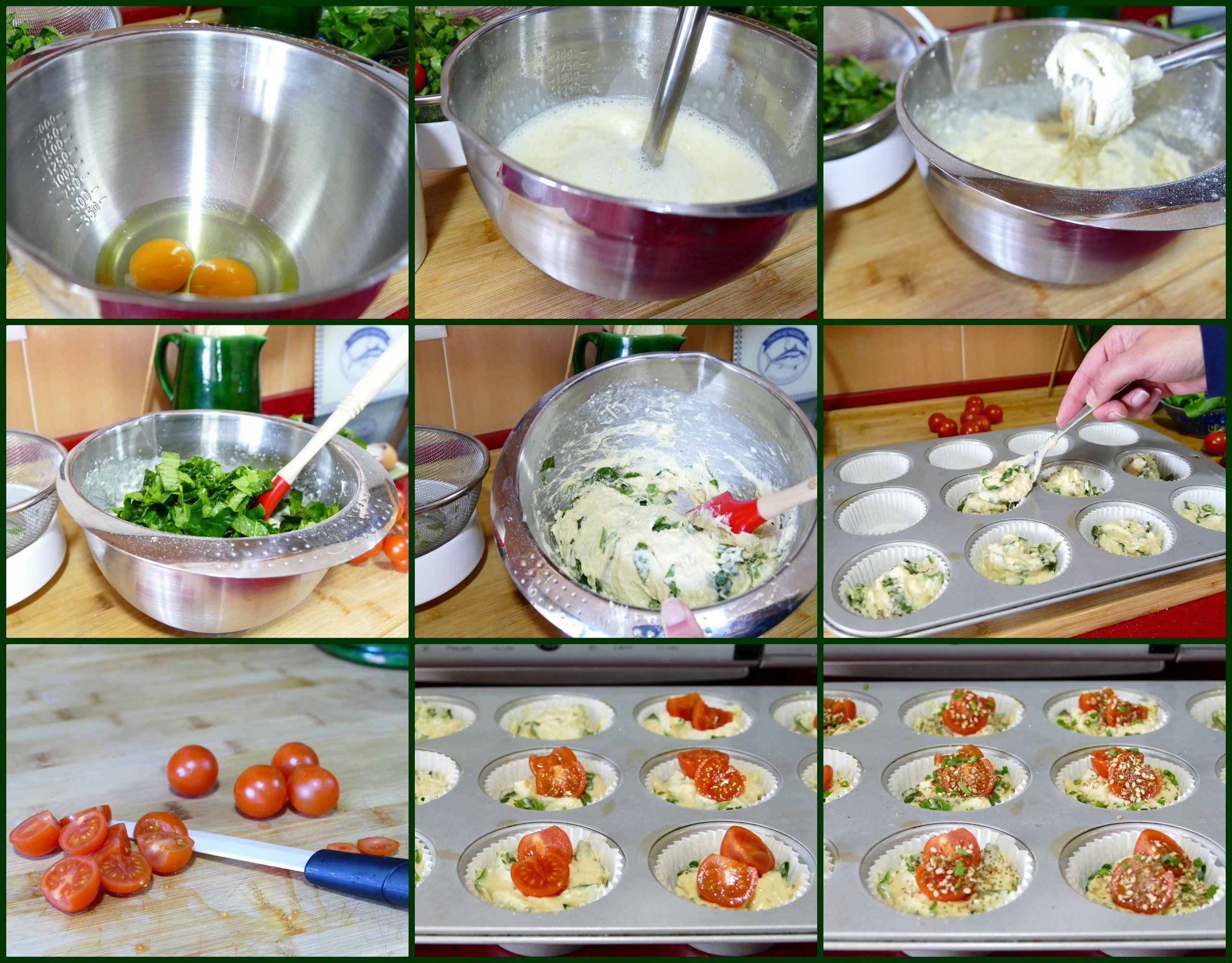 Pasos de Espinacas con Tomates Cherry