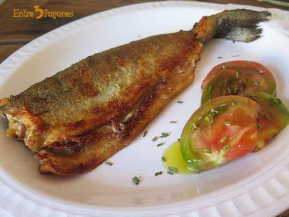 Trucha a la Navarra Rellena de Jamón Serrano