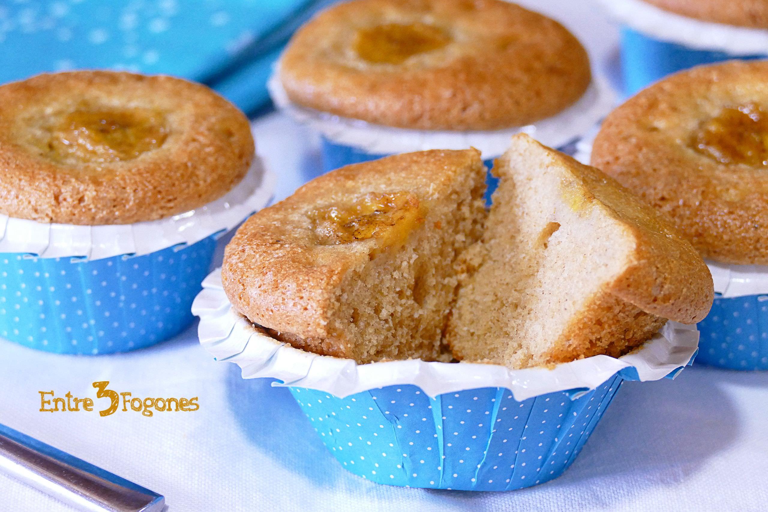 Muffins de Plátano con Jengibre