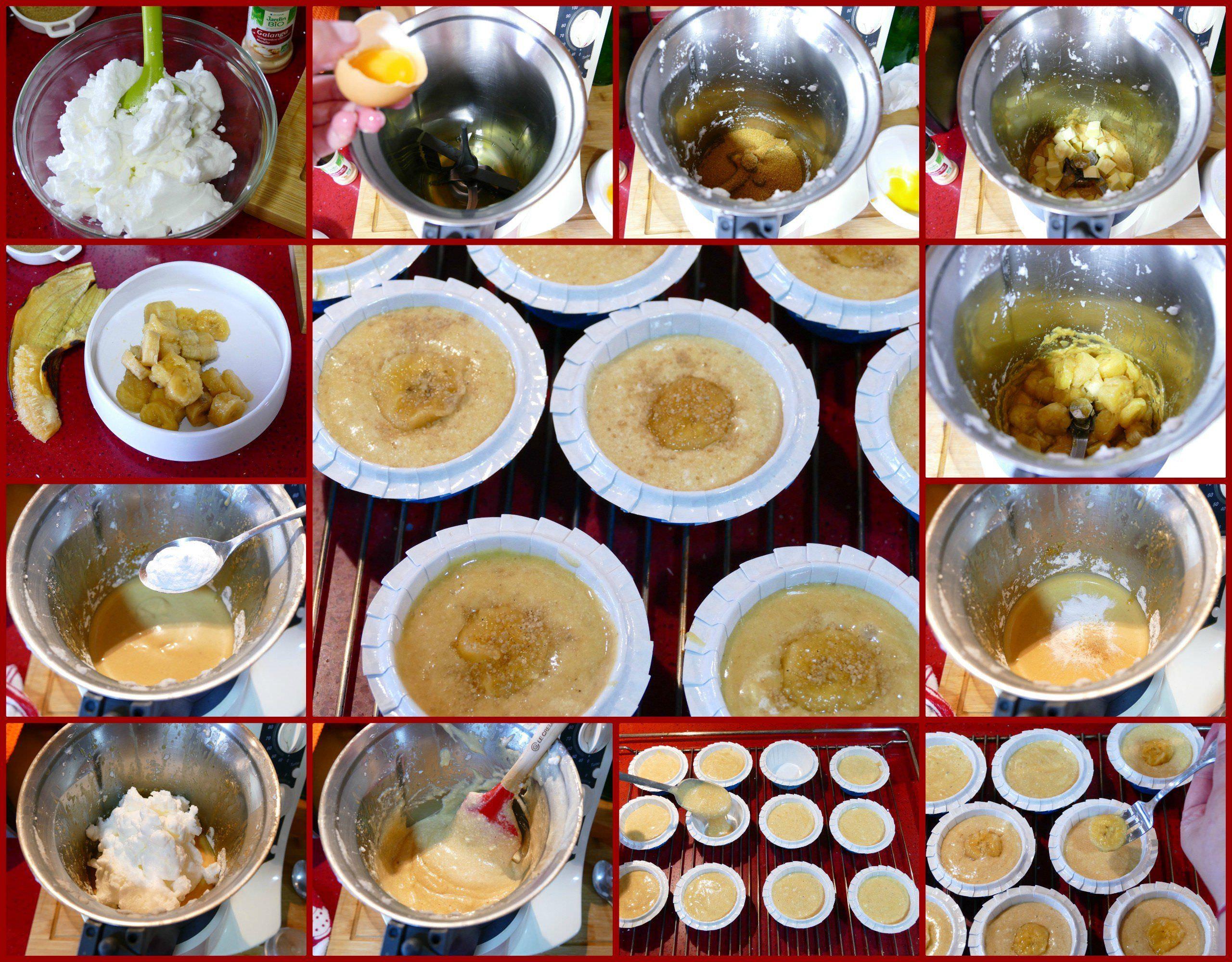 Pasos Muffins de Plátano con Jengibre