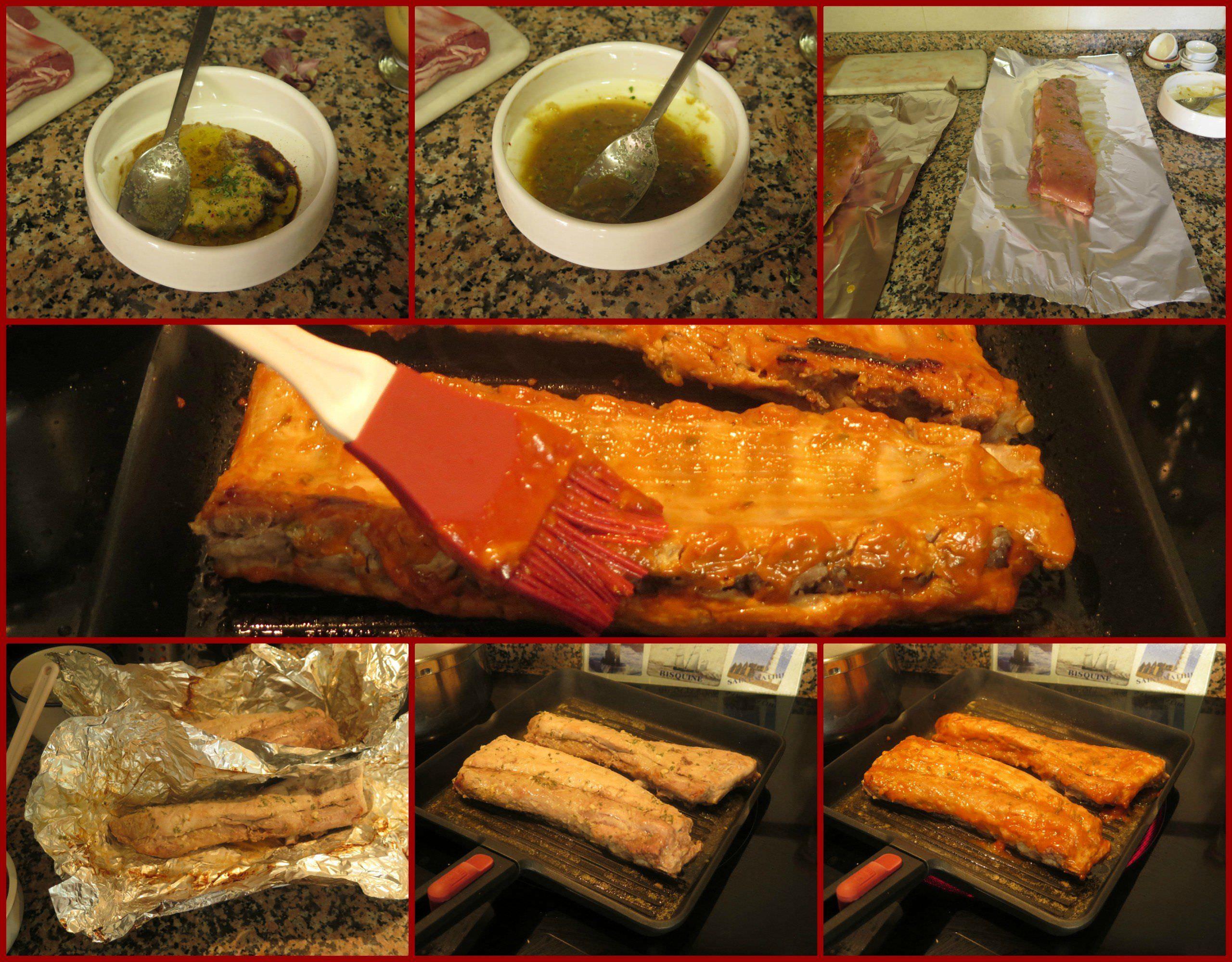Pasos Costillas de Cerdo al Horno con Salsa Barbacoa