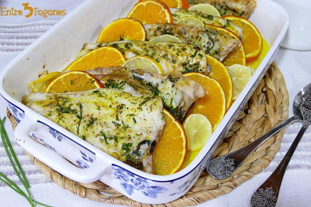 Dorada al Horno con Limón y Naranja