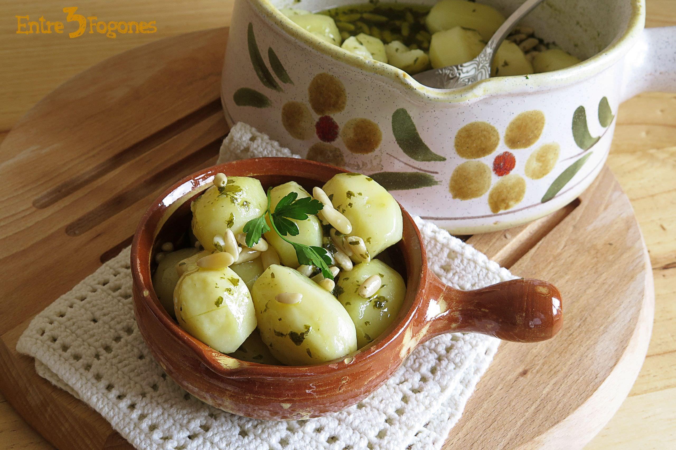 Guarnición de Patatas con Piñones