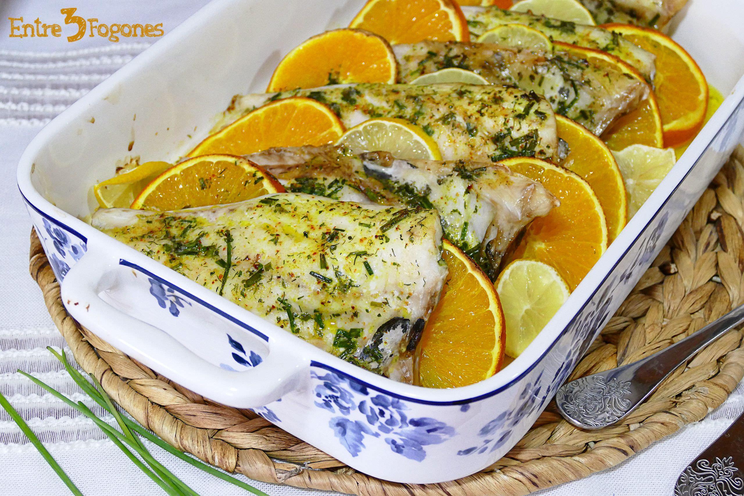 Receta Dorada al Horno con Limón y Naranja