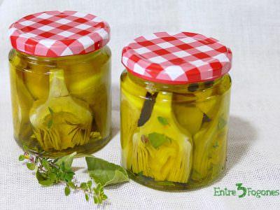 Alcachofas Marinadas en Aceite de Oliva