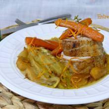 Receta Lomo de Cerdo a la Naranja con Endivias