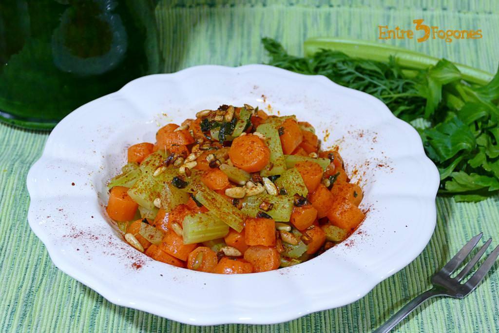 Receta Salteado de Apio y Zanahoria al Vapor