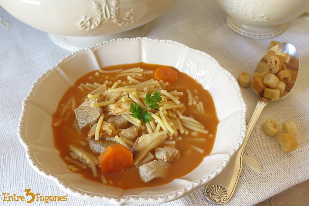 Receta Sopa de Pescado con Fideos