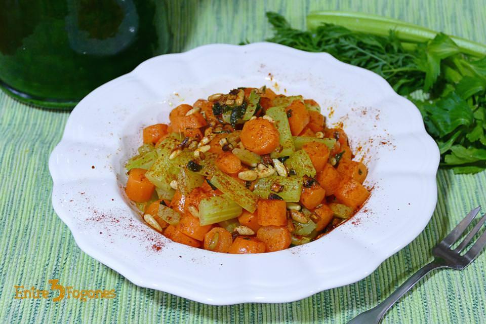 Salteado de Apio y Zanahoria al Vapor