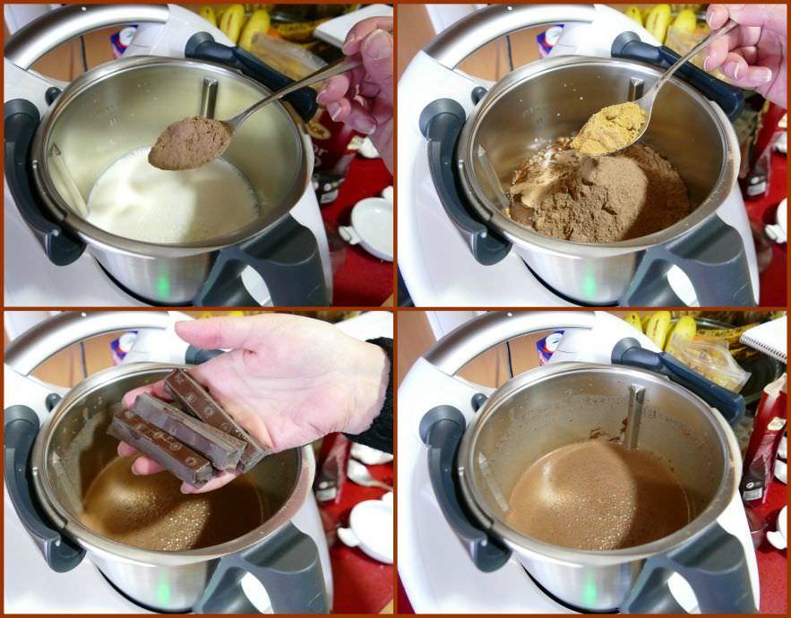Pasos Chocolate a la Taza en Thermomix