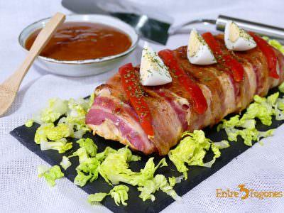 Receta Pastel de Pollo y Bacon con Jamón