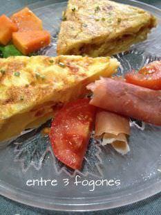 Tortilla de Patatas con Bacon y Manzana