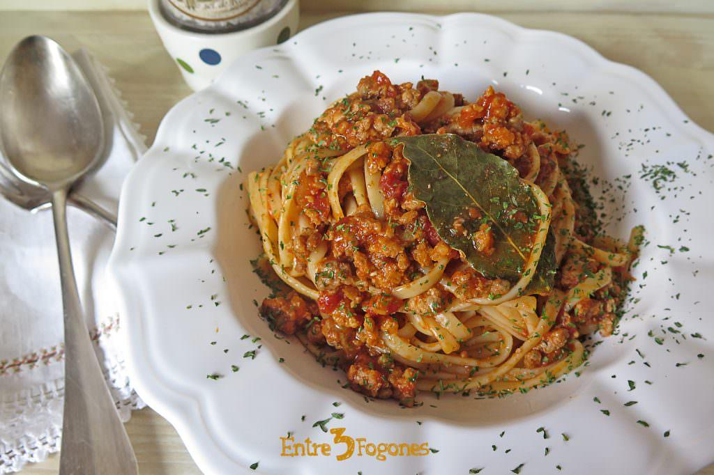 Receta Tallarines a la Boloñesa
