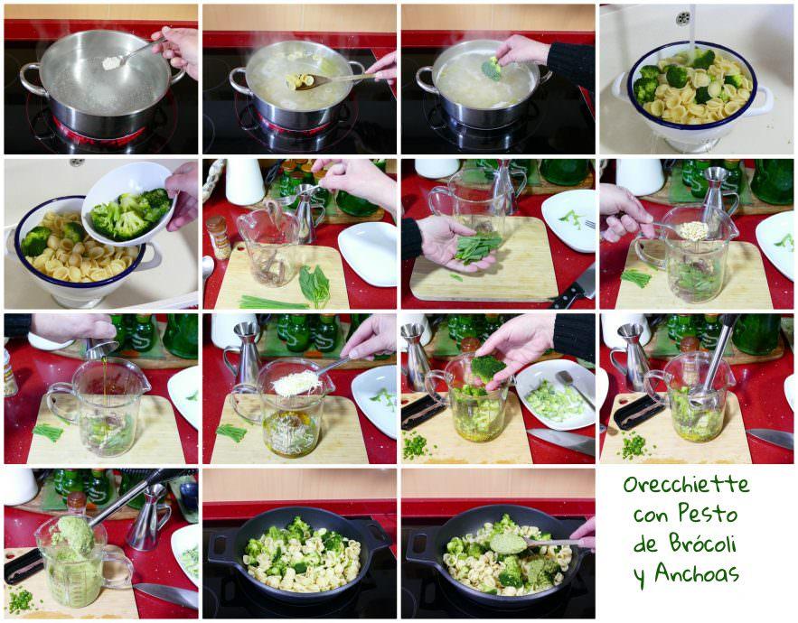 Pasos Orecchiette con Pesto de Brócoli y Anchoas
