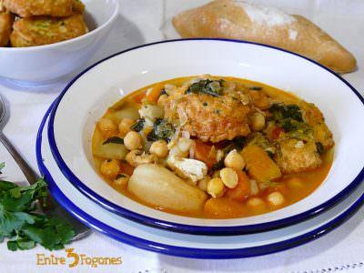 Receta Potaje de Garbanzos con Espinacas y Bacalao