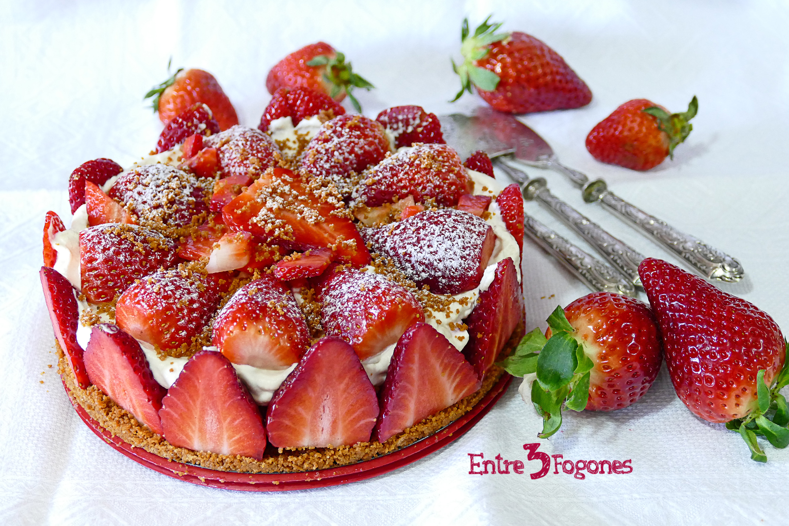 Photo of Tarta de Fresas sin Horno