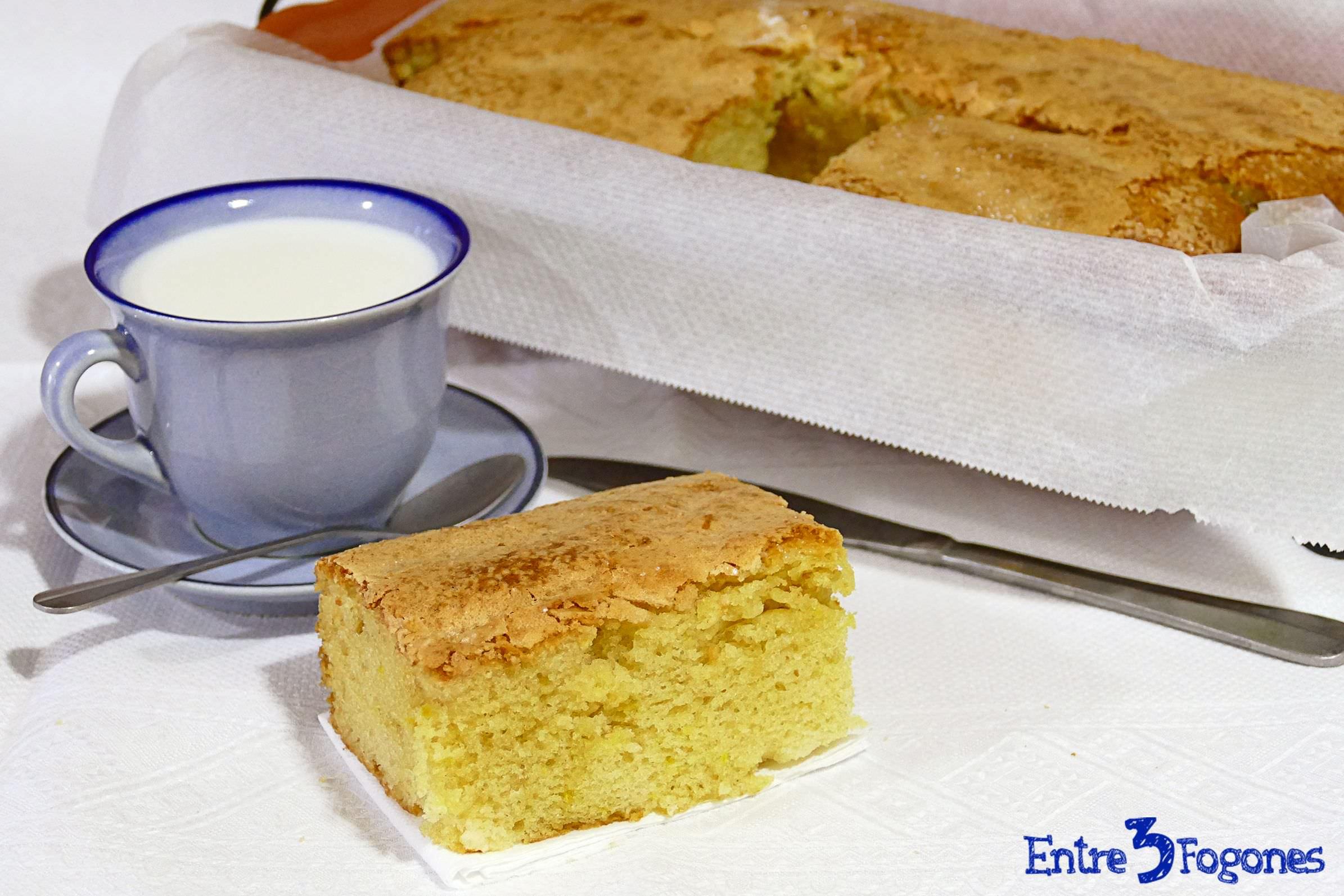Torta de Lata. Receta Manchega de Bizcocho Casero