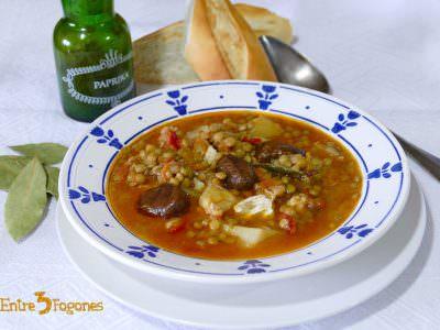 Lentejas con Bacalao y Castañas con Magimix Cook Expert