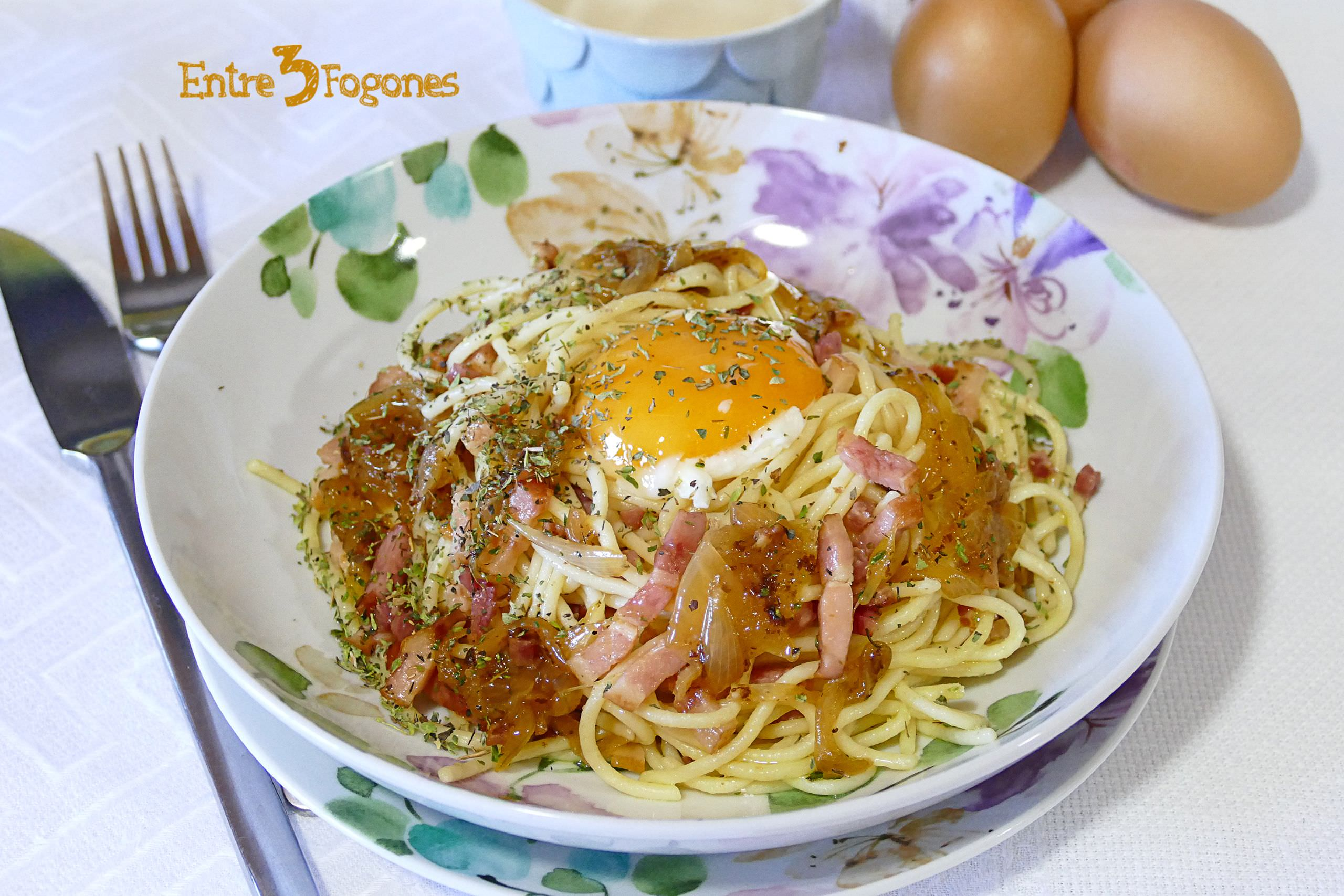 Photo of Espaguetis Carbonara con Jamón Serrano