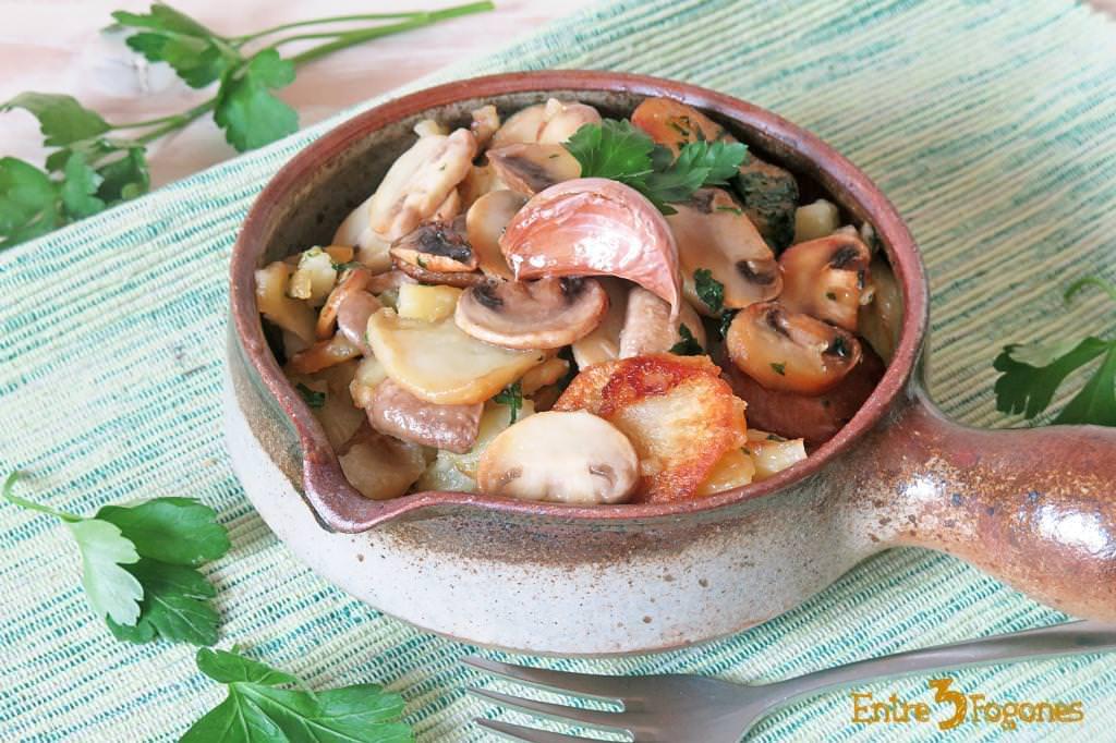 Guarnición Patatas con Champiñones