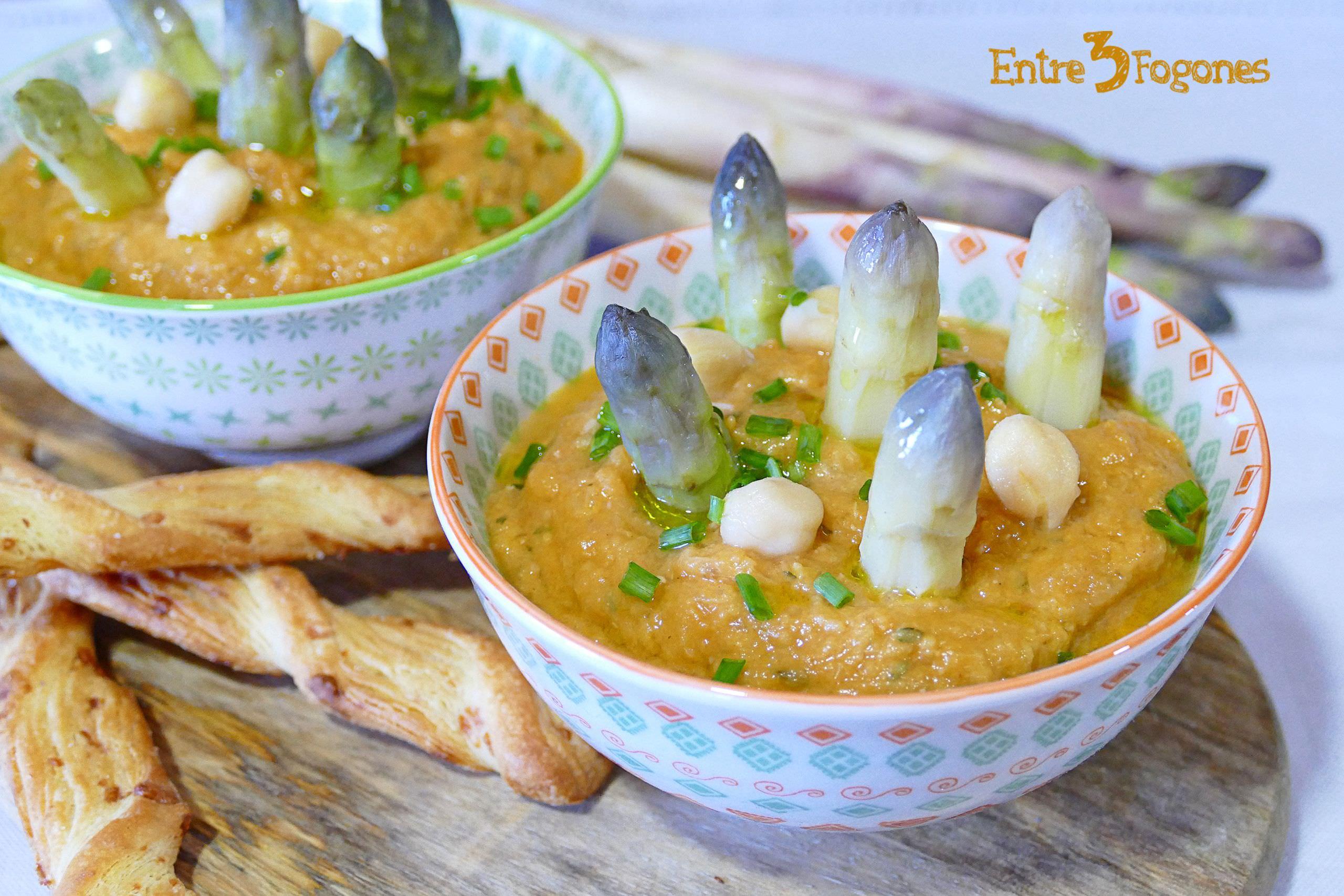 Hummus de Garbanzos y Espárragos Blancos Cook Expert Magimix