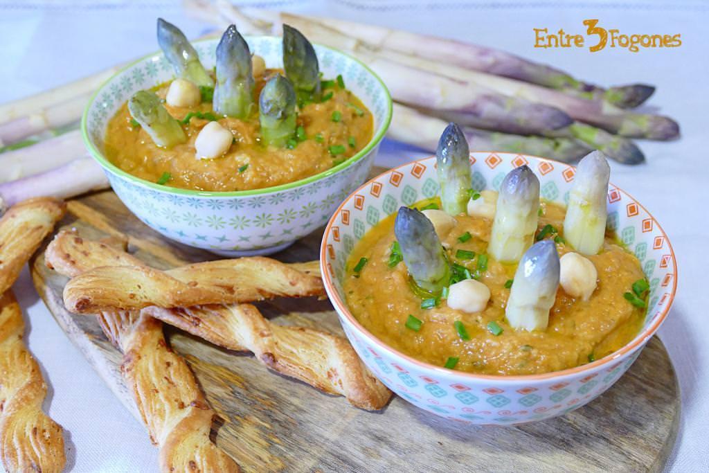Receta Hummus de Garbanzos y Espárragos Blancos