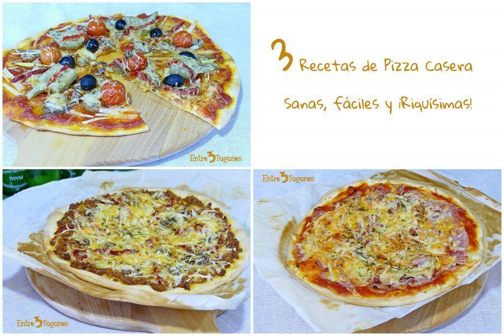 3 Recetas de Pizza Casera
