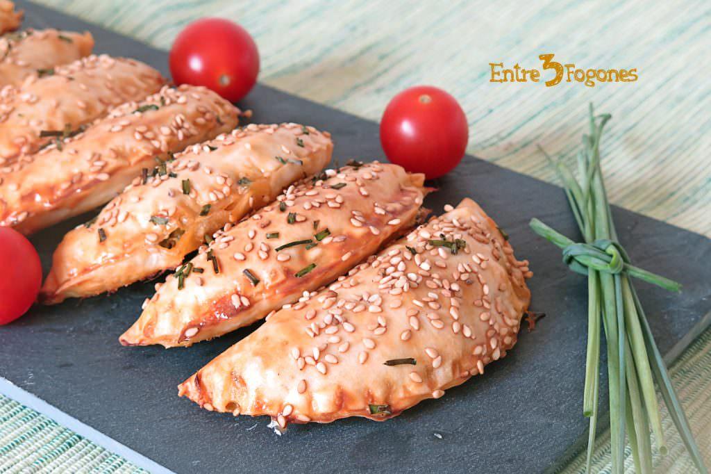 Empanadillas al Horno de Atún y Pisto