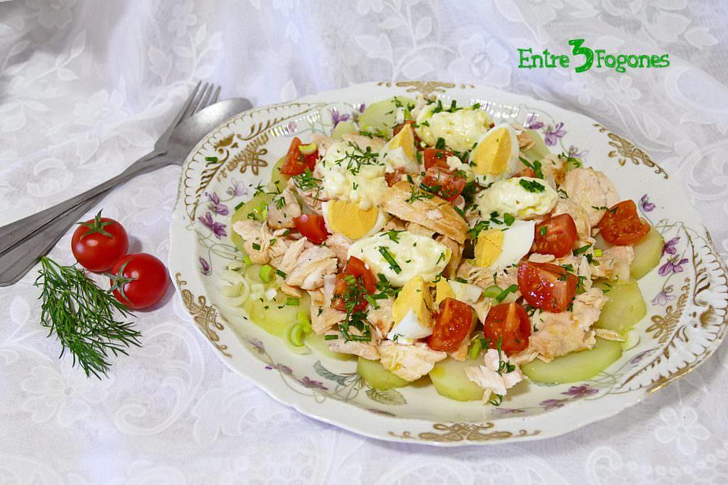 Ensalada de Patata con Salmón