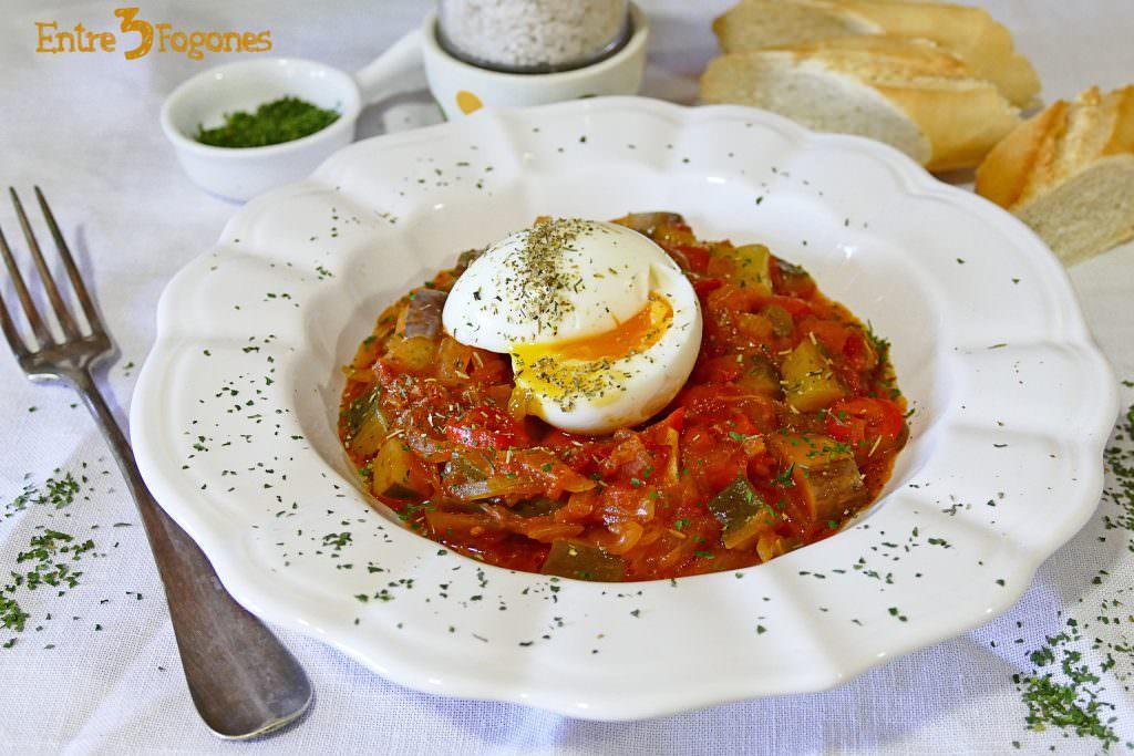 Pisto Manchego con Huevo Mollet