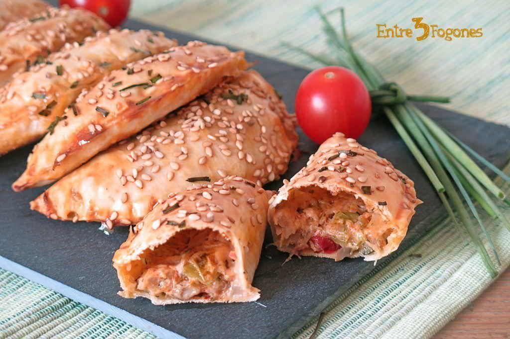Receta Empanadillas al Horno de Atún y Pisto