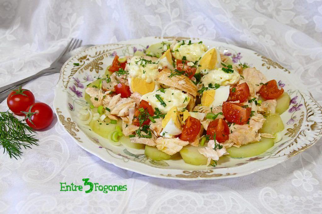 Receta Ensalada de Patata con Salmón