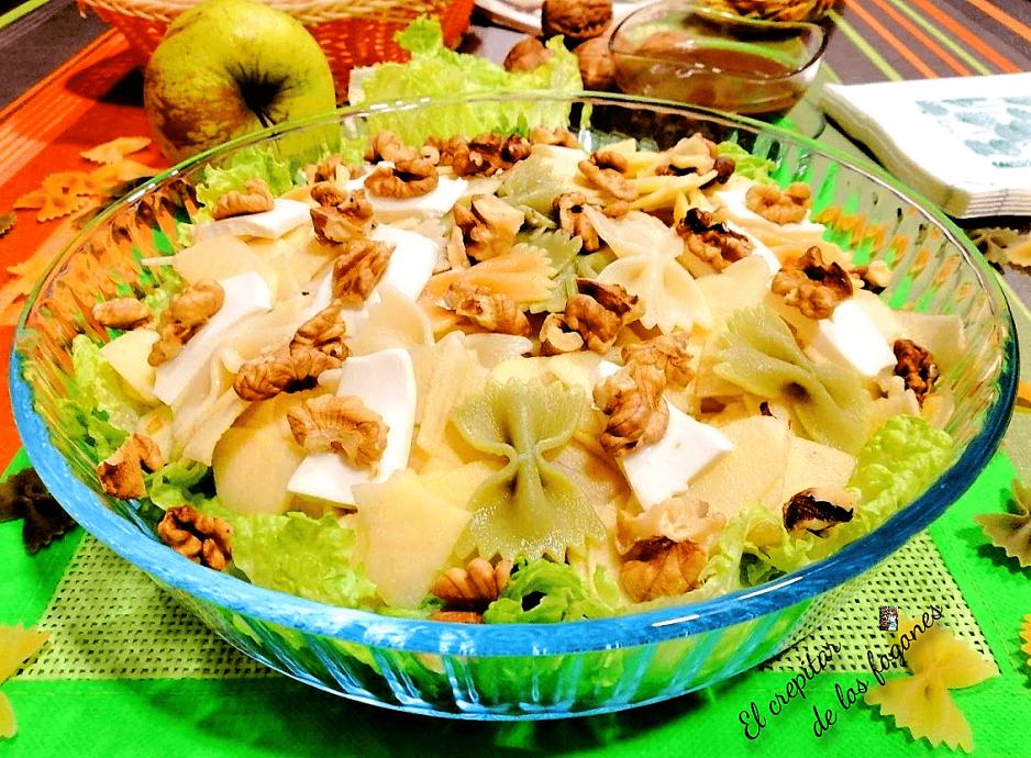 Ensalada de Pasta y Manzana