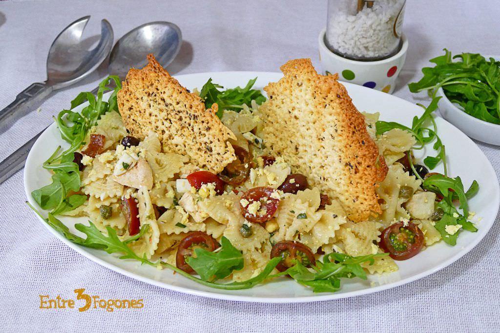 Ensalada Italiana con Pollo y Pasta