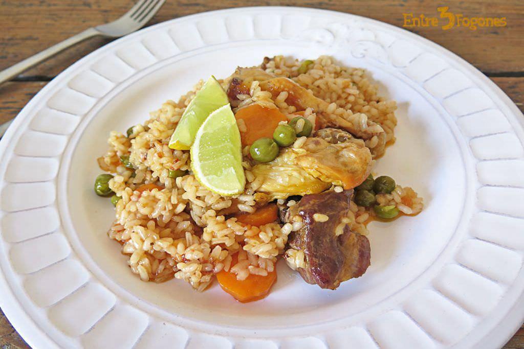 Arroz con Carne y Verduras con Thermomix