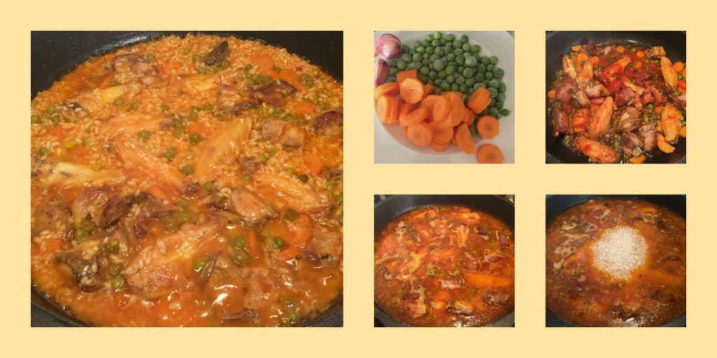 Pasos Arroz con Carne y Verduras en Caldo de Cocido